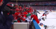 McDonagh Rides Zajac Into The Bench 1-26-14