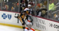 NHL Glass Gets Blown Out