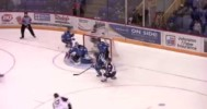 Penticton Vees Hunter Miska's Huge Save  10-17-2014