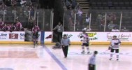 Ref Hicks Forgets To Remove Skate Guards 1-28-14