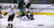Stephane Robidas Suffers Broken Leg (4/21/14)