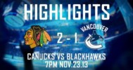 Vancouver vs Chicago Highlights 11-23-13