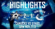 Vancouver vs Dallas Highlights 11-17-13