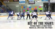 Vernon Vipers #3 Ken Citron Crushes Player 3-22-14