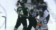 Windsor Spitfires and London Knights Brawl 3-22-14