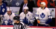Winnik Sprays Linesman With Water Bottle