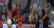 Winnipeg Jets Fan Flips Bird